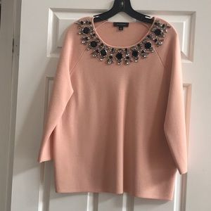 Peach jeweled sweater